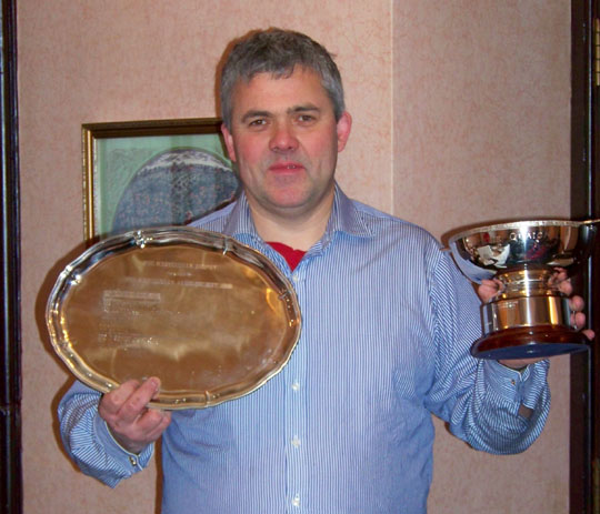 Colin Wright GM4HWO holding trophies