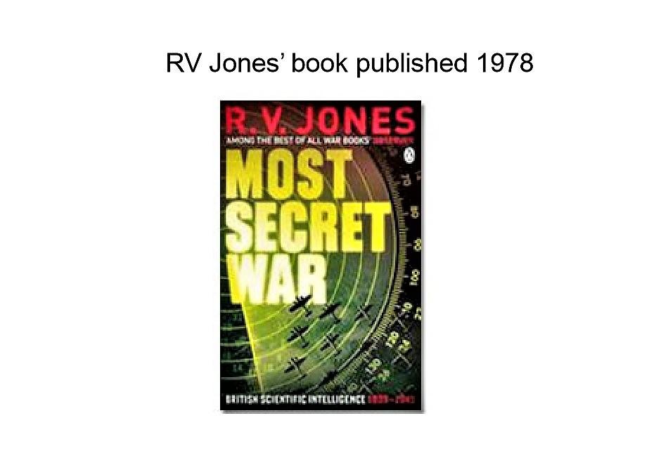 most secret war jones r v